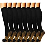 QUXIANG Copper Compression Socks for Women and Men...