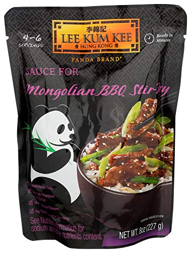 Panda Sauce For Mongolian Beef,BBQ Stir Fry, 8-Ounce (Pack of 6)