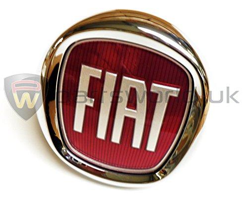 Fiat 735579354 Badge Coffre Arrière et Ouverture de Coffre Authentique pour Fiat Punto Evo/Bravo