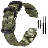 Zeit Diktator Watch Band for Garmin Forerunner 220/230/235/620/630/735XT/235 Lite,Nylon Smart Watch Replacement Band,Optional Color (Army Green)