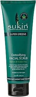 Sukin Supergreens Detox Facial Scrub by Sukin Organic 125ML, 4.23 FL.OZ