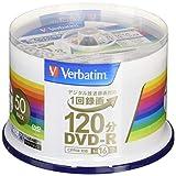 Verbatim バーベイタム 1回録画用 DVD-R CPRM 120分 50枚 ホワイトプリンタブル 片面1層 1-16倍速 VHR12JP50V4