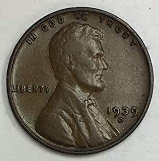 1939 D Lincoln Wheat Penny Average Circulated Good to Fine