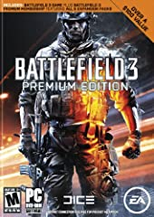 Ramp up the intensity in Battlefield 3 and enjoy total freedom to fight the way you want. Explore nine massive multiplayer maps and use loads of vehicles, weapons, and gadgets to help you turn up the heat. Battlefield 3 Premium Edition includes the b...