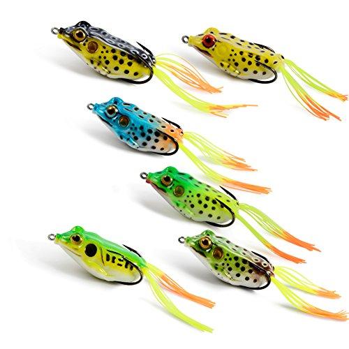 Supertrip Topwater Frog Crankbait Tackle Crank Bait Bass Soft Swimbait Lures Crankbaits Baits Hard Bait Fishing Lures Color 6pcs