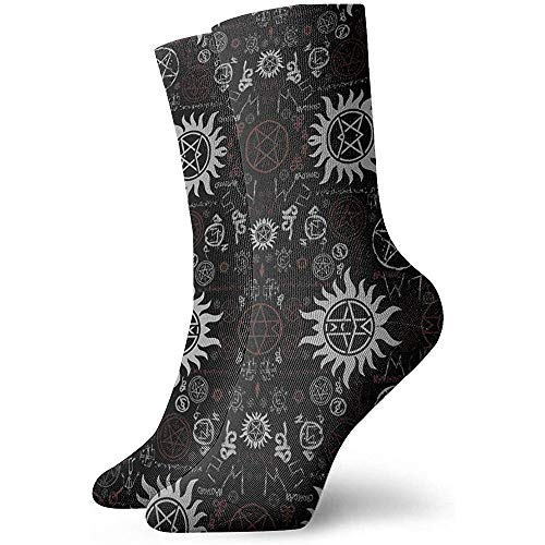 Gre Rry Femmes Supernatural Symbols Socks Moisture Control Thermal Socks
