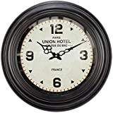 Para sala de estar / oficina / casa / decoración de cocina Reloj de pared de la vendimia del reloj de pared creativos cuelga reloj redondo decorativo for Modern Home Office club tranquilo y silencioso