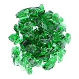 Hiland Fire Pit Fire Glass in Green, Extreme Tempature Rating, Good for Propane or Natural Gas, 10...