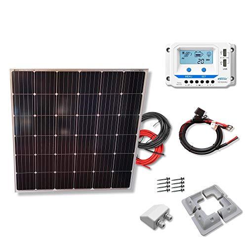 Kit 175W CAMPER 12V panel solar CUADRADO placa monocristalina células alemanas