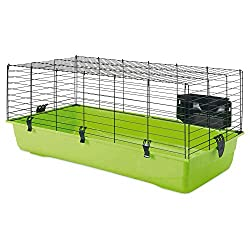 Small rabbit cages green