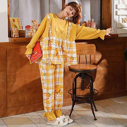 B/H Pijamas navideños Conjunto Familiar,Pijamas de Invierno de algodón para Mujer, 2315_XL,Pijamas de Franela Suave Cálida Ropa
