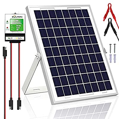 SOLPERK 10W Solar Panel,12V Solar Panel Charger Kit+8A Controller,Suitable for Automotive, Motorcycle, Boat, ATV, Marine, RV, Trailer, Powersports, Snowmobile etc. Various 12V Batteries. (10W Solar)