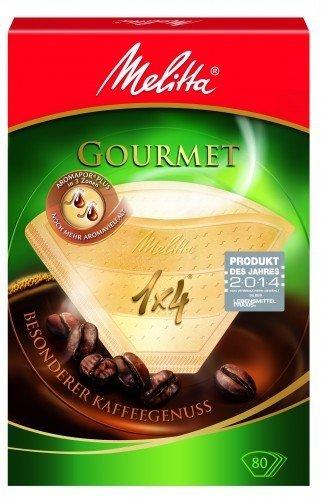 80 x Filtertüten/Kaffeefilter Melitta Gourmet 1x4 (Grösse 4)