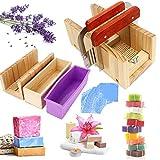JasCherry 4 Stück Pinie Holz Verstellbar Seifen Silikonform Spree Set - Handgefertigt Holz DIY...
