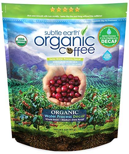 Subtle Earth Organic Decaf Medium Dark Roast Whole Bean