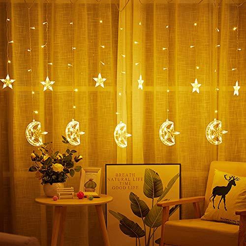 Aquyy Led-lichtsnoer, 2,5 m, 1 m, 8 soorten lichtpatronen, sterlichtsnoer, voor ramen van de kamer, bruiloft, kerstdecoratie.