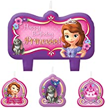 Candle Set   Disney Sofia The First Collection   Birthday   6 Sets