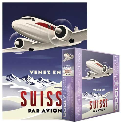 EuroGraphics 8000-1646 Come to Switzerland by Plane 1000-Piece Puzzle (Small Box) by EuroGraphics