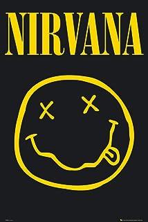 Nirvana - Smiley Face 36x24 Art Print Poster Wall Decor Rock and Roll Music Legend Kurt Cobain