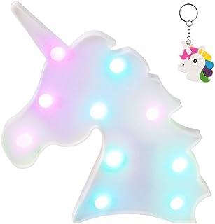 AIZESI Unicorn Marquee Light Night Light Wall Room Decor,Desk Table Lamp,Kids Gift for..