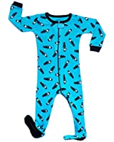 Leveret Kids Police Car Baby Boys Footed Pajamas Sleeper 100% Cotton (Size 12-18 Months)