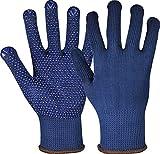 strongAnt NAMUR Blau Arbeitshandschuhe aus Baumwoll-/Polyesterstrick, Sicherheitshandschuhe mit PVC...