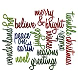 Sizzix Thinlits Die Set 660058, Holiday Words Script by Tim Holtz, 17 Pack