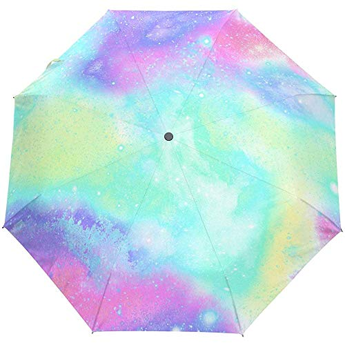 Space Universe Stars Abstract Texture Striped Auto Öffnen Schließen Regenschirme Anti UV Folding Compact Automatic Umbrella