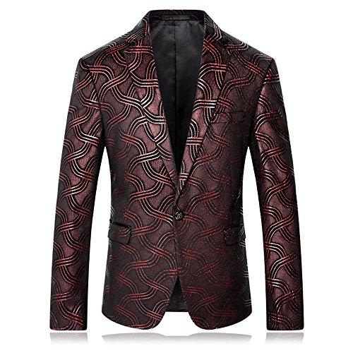 Männer 3D Print Fashion Performance Anzug Jacken zurück Schnitt Slim Fit Streifen Patchwork Design Anzüge Jacken