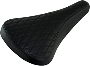 Fenix Cycles Vintage Diamond Pattern Vinyl BMX Bike Saddle, (Black)