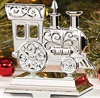 Lenox Christmas Silver Train Stocking Holder New in box Silver plated metal. Heavy 7