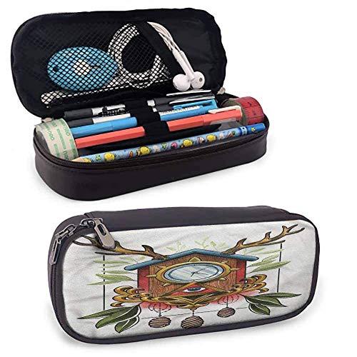 XCNGG Trippy Art Zipper Große Aufbewahrungsstifte Tasche, altes Geweih für Stift,...