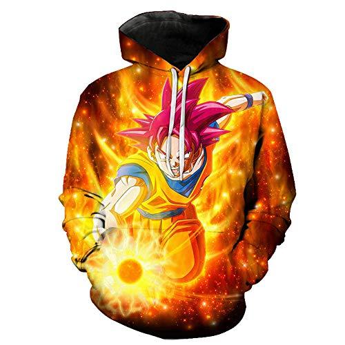 Anime Dragon Ball Z Goku 3D Hoodies Coat Hombres Mujeres Niños Sudaderas con Capucha...