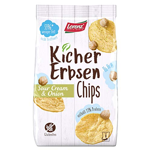 Lorenz Snack World Kichererbsenchips Sour Cream & Onion, 12er Pack (12 x 85g), 12 Stück