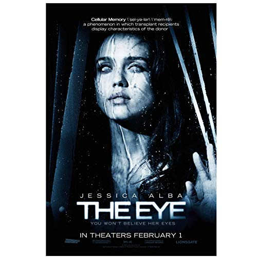 WTYBGDAN Jessica Alba Starring Classic Movie The Eye (2008) Movie Cover Art Wall Canvas Painting Print Living Room Home Decoration-20X30 Inch No Frame