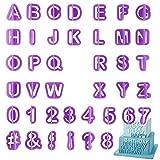 【Set di stampi per caramelle】Questo set di 4 stampi contiene 26 lettere dalla A alla Z, numeri da 0 a 8 e 5 segni di punteggiatura