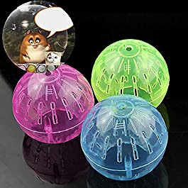 Bbl345dLlo Hamster Running Ball, Pet Supply Rodent Mice Jogging Hamster Gerbil Rat Toy Plastic Exercise Ball
