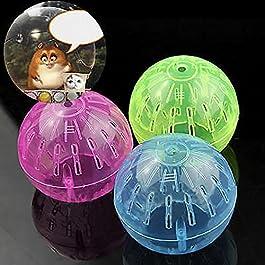 Bbl345dLlo Hamster Running Ball, Pet Supply Rodent Mice Jogging Hamster Gerbil Rat Toy Plastic Exercise Ball