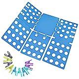 Ohuhu® Carpeta Ropa - Vestido Adulto Pantalones Toallas Camiseta Carpeta Carpeta / Camisa / Carpeta de Lavandería Junta Organizador, Azul
