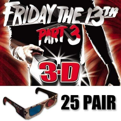 Friday the 13th 3D Glasses Party GLASSES Many popular brands pair Excellent 25 Pack ONLY