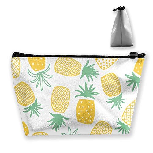 Portatile Trapezoidale Sacchetto di Immagazzinaggio Frutta Ananas Acquerello Disegno Sacchetti Cosmetici Viaggio Toiletry Cerniera Matita Titolari
