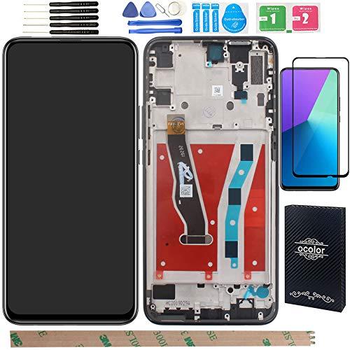 """YHX-OU 6.59"""" per Huawei P Smart Z 9X Y9 Prime 2019 LCD Display di Riparazione e Sostituzione LCD Display Touch Screen Digitizer con Utensili Inclusi+1 Pezzo Vetro temperat (Nero+Telaio)"""