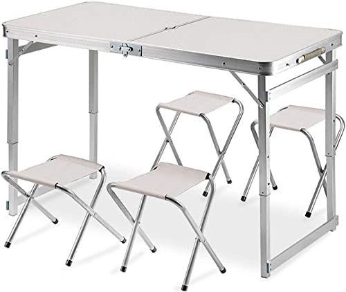 LQQFF Sac de Transport portatif pour Table Pliante Picnic La Table de Camping Comprend 4 tabourets for Les Ensembles de Pique-Nique Portables. Table de Camping