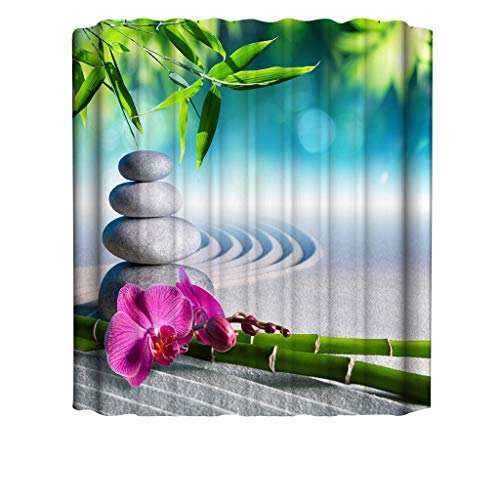 Xmiral Duschvorhänge 3D Gedruckte 180x180cm Badewanne Vorhang Wasserdicht Badezimmer Dekoration(B)