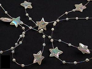 1m Sterne Perlenband Perlenkette Perlengirlande Perlenschnur Weihnachten Advent Deko Perlen Tischdeko Meterware