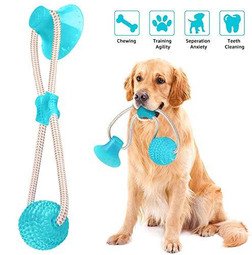 Juguete Ventosa Interactivos Para Perros, Juguete Para Mordedura De Molar Para Mascotas, Con Ventosa Para Masticar, Limpiar Los Dientes, Juguete De Bola De MasticacióN, Adecuado Para Perros Y Gatos