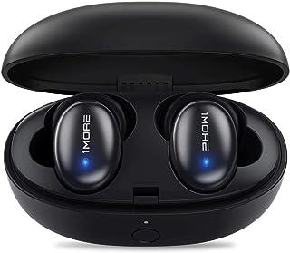 1MORE ワイヤレスイヤホン Bluetooth 5.0 最大24時間再生 aptX AAC 対応 ステレオ高音質 通話マイク内蔵 自動ペアリング 重低音重視 防水 Stylish TWS-I (ブラック)