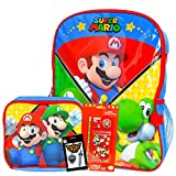 Super Mario Backpack and Lunch Box Set for Boys Girls Kids ~ Deluxe