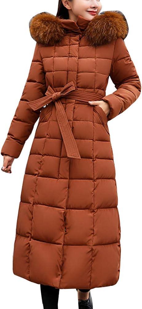 Femme Doudoune Hiver Femme Longue Manteau Zipp/é /épais Chaud Parka Blouson Hiver Fourrure avec Capuche Elegant Slim Hoodie Jacket Veste Efanhouy