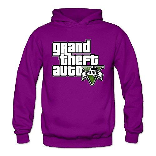 Women's GTA V Grand Theft Auto Logo Hoodie M Purple